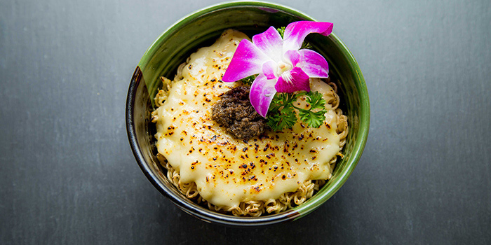 Dry Noodle With Cheese Sauce and Black Truffle Pate, On On BBQ, Mong Kok, Hong Kong