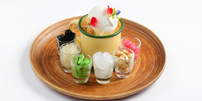Assorted Ice Cream served with seasonal compliments from CAFE NINE Jim Thompson Phuket in Patong, Phuket, Thailand.