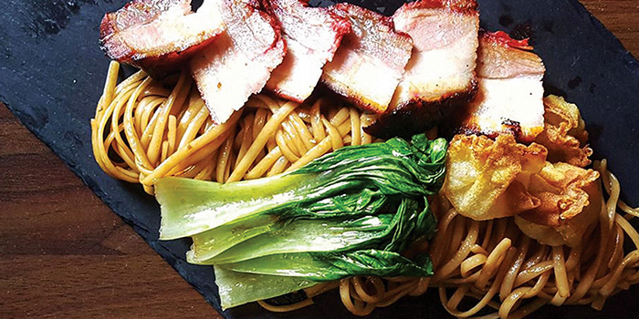 Barbeque Pork Belly Pasta from Froth in Raffles Place, Singapore