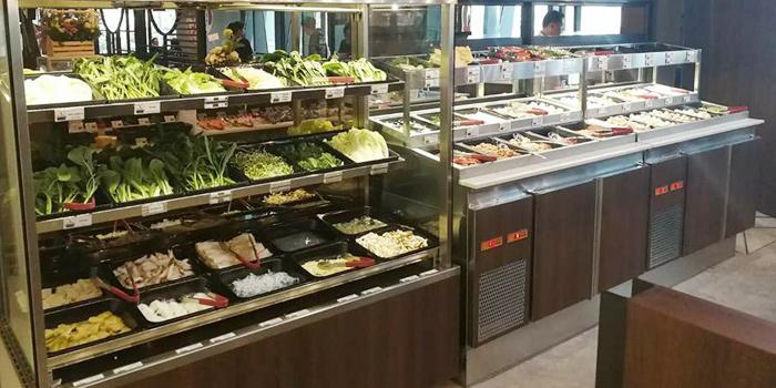 Buffet Line from Fu Fu Taiwanese Shabu at G Tower, Bangkok