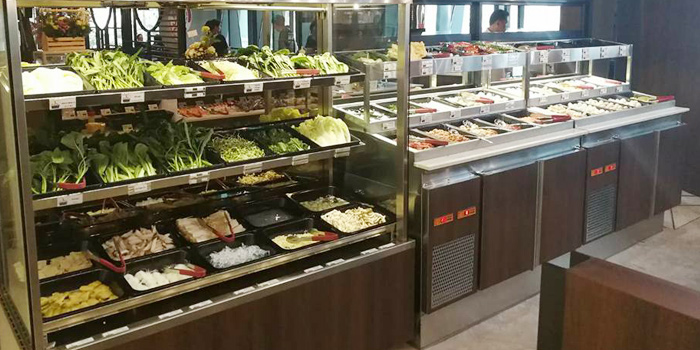 Buffet Line from Fu Fu Taiwanese Shabu at G Tower, Bangkok
