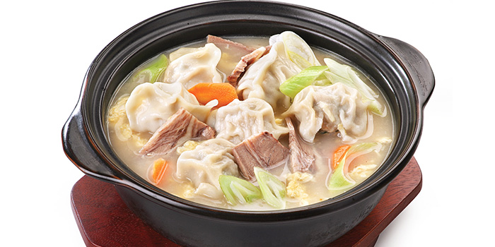 Dumpling Soup in Korean Style (Beef) from Crystal Jade Korean Ginseng Chicken & BBQ at Ngee Ann City in Orchard Road, Singapore