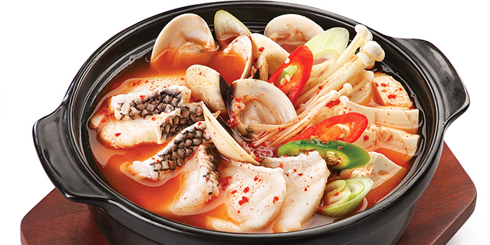 Spicy Fish Soup from Crystal Jade Korean Ginseng Chicken & BBQ at Ngee Ann City in Orchard Road, Singapore
