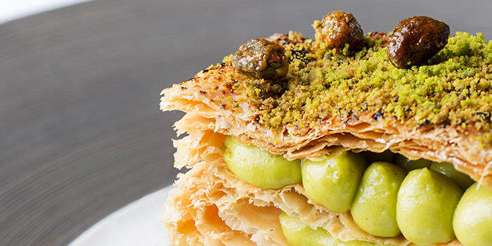 Candied pistachio millefeuille, Mandarin Grill + Bar, Central, Hong Kong