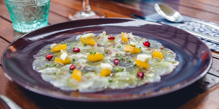 Carpaccio from Blue Parrot on Sathorn Road, Bangkok