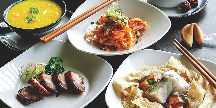 Set Menu Dishes from Full of Luck Club in Holland Village, Singapore