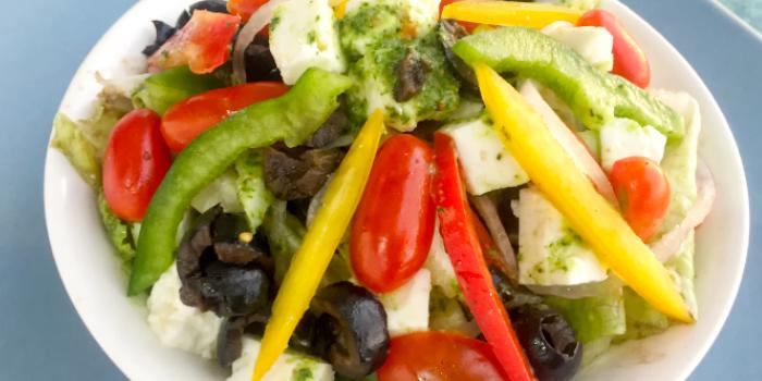 Greek Salad from The Beach Cuisine in Bangtao, Phuket, Thailand.