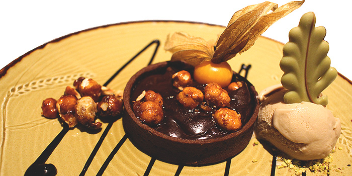 Hazelnut Chocolate Tart from Grissini at Grand Copthorne Waterfront Hotel in Robertson Quay, Singapore