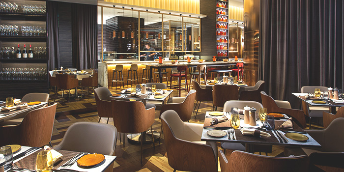 Interior of Grissini at Grand Copthorne Waterfront Hotel in Robertson Quay, Singapore