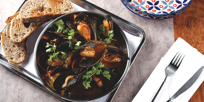 Mussel Casserole from Media Bar in JW Marriott Hotel Singapore South Beach in City Hall, Singapore