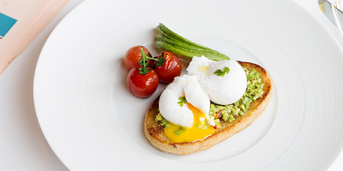 Soft Poached Eggs and Avocado on Toast, Mandarin Grill + Bar, Central, Hong Kong