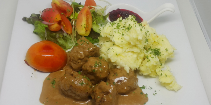Meatballs with Mashed Potato from Karlsson Restaurant & Steakhouse Karon in Karon, Phuket, Thailand