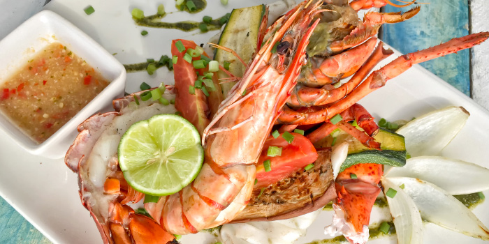 Mix Grilled Seafood from The Beach Cuisine in Bangtao, Phuket, Thailand.