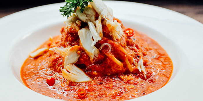 Chilli Crab Pasta from Nassim Hill Bakery Bistro Bar at Tanglin Post Office in Tanglin, Singapore