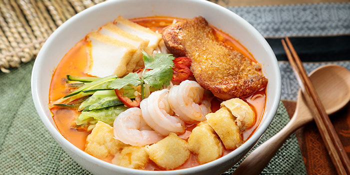 Laksa Noodles, The Gazebo Restaurant, Wan Chai, Hong Kong
