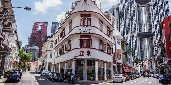 Facade of Potato Head Singapore on Keong Saik Road in Chinatown, Singapore
