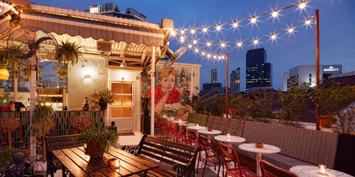 Rooftop Bar of Potato Head Singapore on Keong Saik Road in Chinatown, Singapore