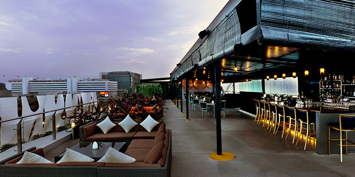 Rooftop Bar of Propeller at The Bay Hotel in Harbourfront, Singapore