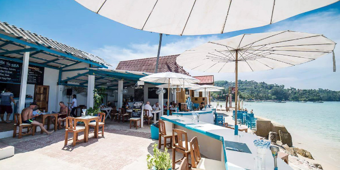 Restaurant Ambiance of The Beach Cuisine in Bangtao, Phuket, Thailand.
