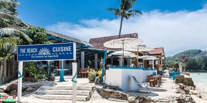 Restaurant Atmosphere from The Beach Cuisine in Bangtao, Phuket, Thailand.