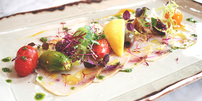 Swordfish Carpaccio from Grissini at Grand Copthorne Waterfront Hotel in Robertson Quay, Singapore