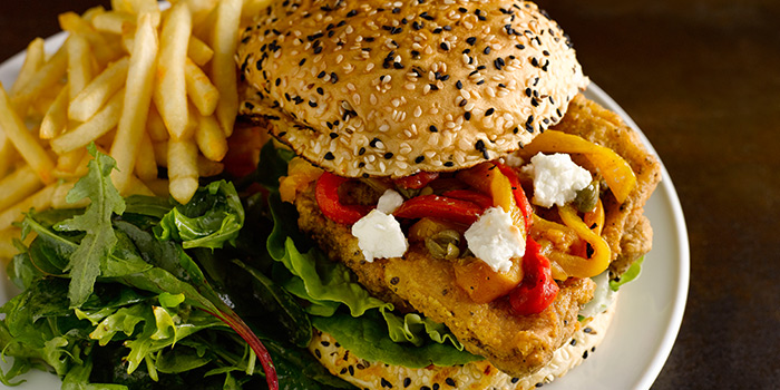 Chicken Burger from The Market Grill at Telok Ayer in Raffles Place, Singapore