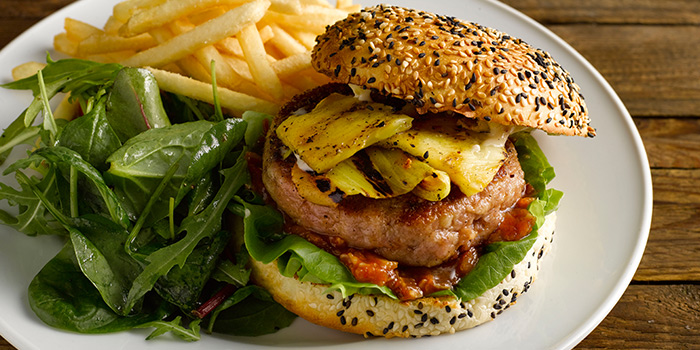 Pork Burger from The Market Grill at Telok Ayer in Raffles Place, Singapore