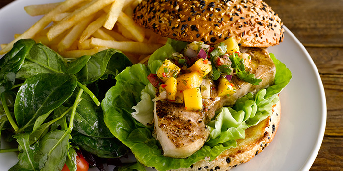 Swordfish Burger from The Market Grill at Telok Ayer in Raffles Place, Singapore