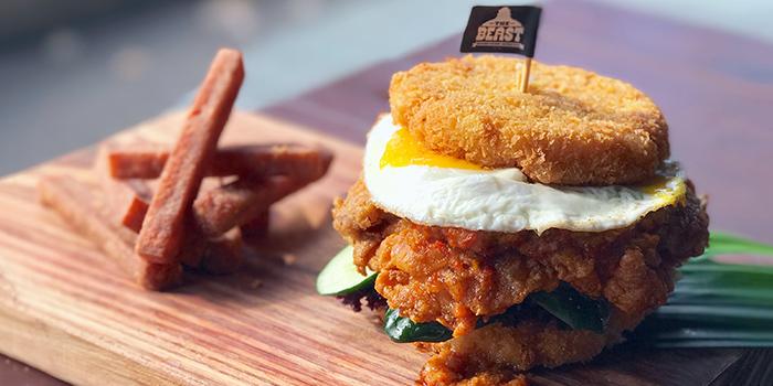 Nasi Lemak Burger (1-31 Aug) from The Beast in Bugis, Singapore