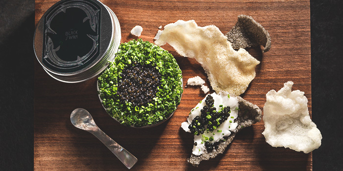 Caviar from The Black Swan at Cecil Street in Raffles Place, Singapore