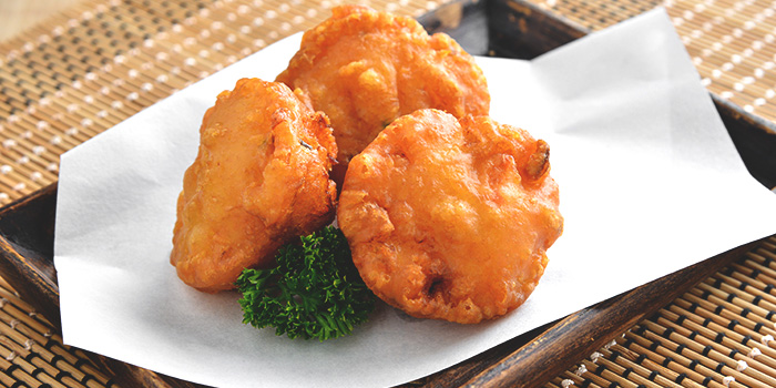 Corn & Prawn Fritters from Chef Wan
