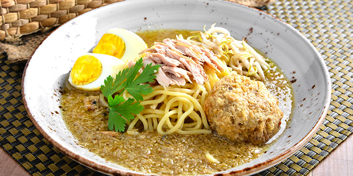 Yellow Noodles in Spiced Chicken Soup with Potato from Chef Wan