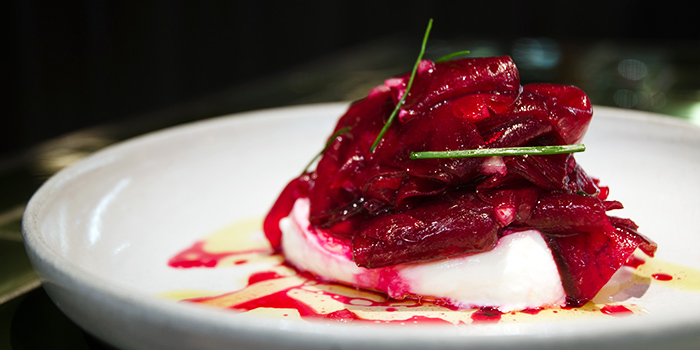 Pickled Beets with Fresh Burrata and Candied Walnuts from Dehesa in Boat Quay, Singapore
