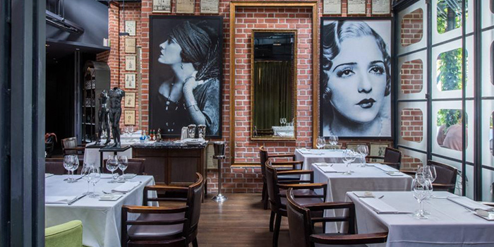 Dining Area of OSO Ristorante in Tanjong Pagar, Singapore