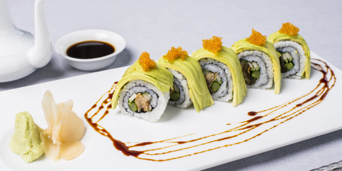 Dragon-Roll from Hansha in Nai Harn, Phuket, Thailand.