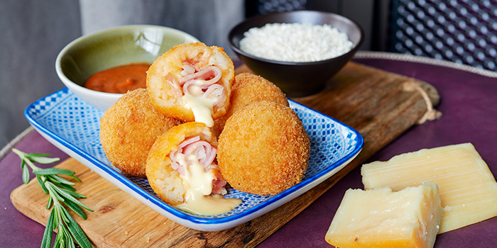 Ham & Cheese Arancini Dumplings from Grains & Hops at YOTEL Singapore in Orchard, Singapore