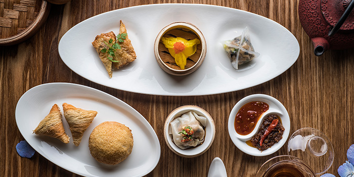 Dim Sum Spread from Jiang-Nan Chun at Four Seasons Hotel Singapore in Tanglin, Singapore