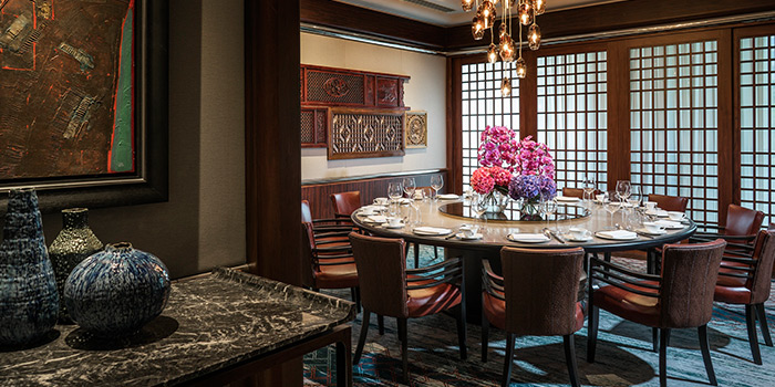 Winter Blossom Private Dining Room of Jiang-Nan Chun at Four Seasons Hotel Singapore in Tanglin, Singapore