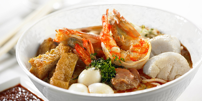 Laksa from One-Ninety Restaurant at Four Seasons Hotel Singapore in Orchard Road, Singapore