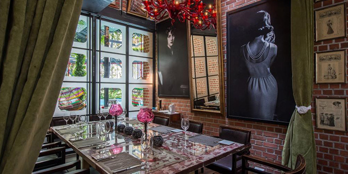 Private Dining Room of OSO Ristorante in Tanjong Pagar, Singapore