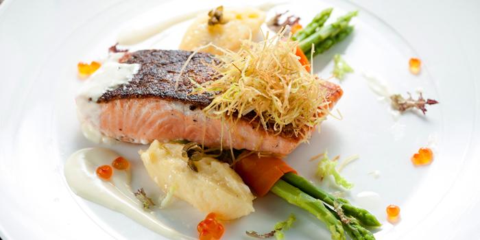 Pan Seared Salmon from Albricias at Chatrium Residence Sathon, Soi Naradhiwas 24, Bangkok