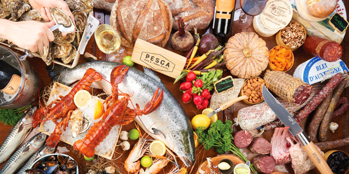 Food Selection from Pesca Mar & Terra Bistro at Ekkamai 12 Alley, Wattana, Bangkok