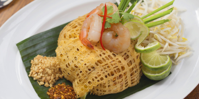 Phad Thai from Kantok Restaurant in Patong, Phuket, Thailand.