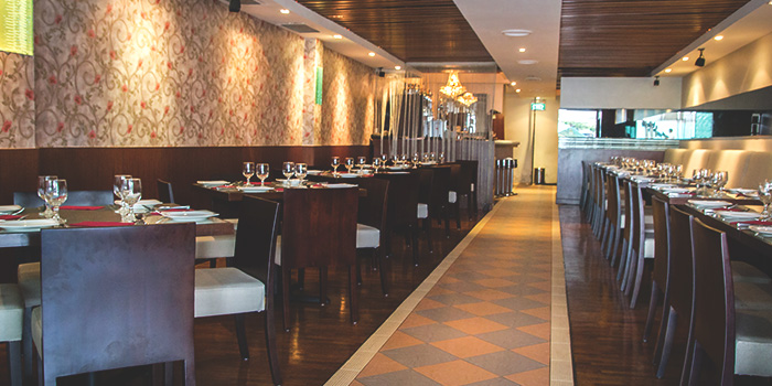 Interior of RAS The Essence of India in Clarke Quay, Singapore