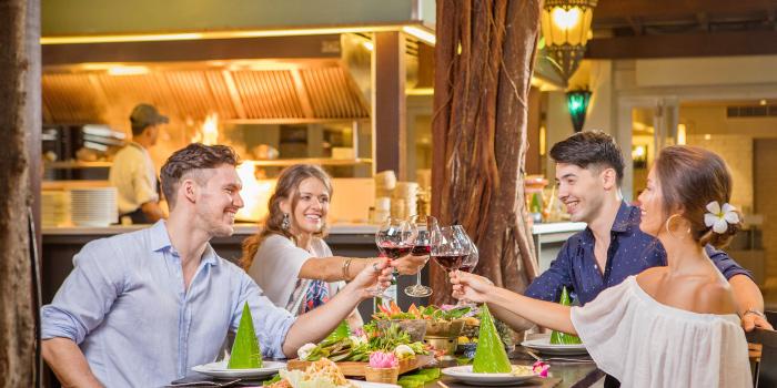 Restaurant Atmosphere of Kantok Restaurant in Patong, Phuket, Thailand.