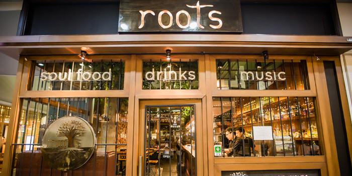 Entrance of Roots - Bangkok at K- Village, Bangkok