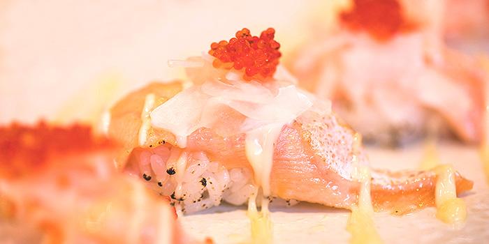 Salmon Sushi from Sea & Blue at The Shoppes at Marina Bay Sands in Marina Bay, Singapore