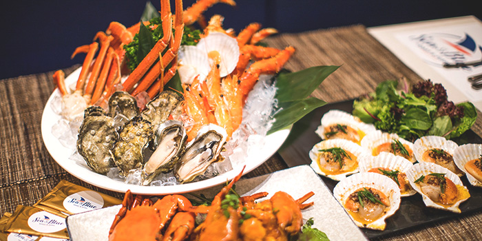 Seafood from Sea & Blue at The Shoppes at Marina Bay Sands in Marina Bay, Singapore