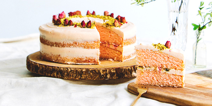 Rose Raspberry Pistachio Cake from Shop Wonderland in Telok Ayer, Singapore