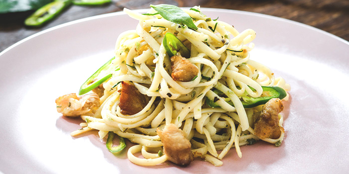 Thai Green Curry Pasta from Shop Wonderland in Telok Ayer, Singapore